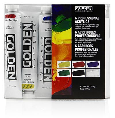 Golden Acrylic Heavy Body Intoductory 6-Set