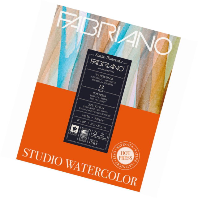Fabriano Studio Watercolour Pad Hotpress