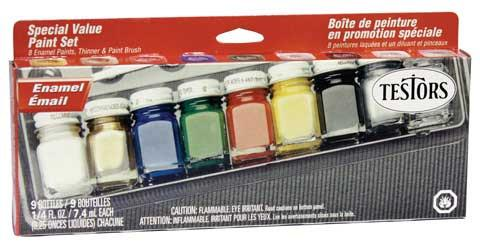 Testors Enamel Paint 8-Colour Set