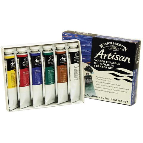 Artisan Water Mixable Oil Paint 6-Set