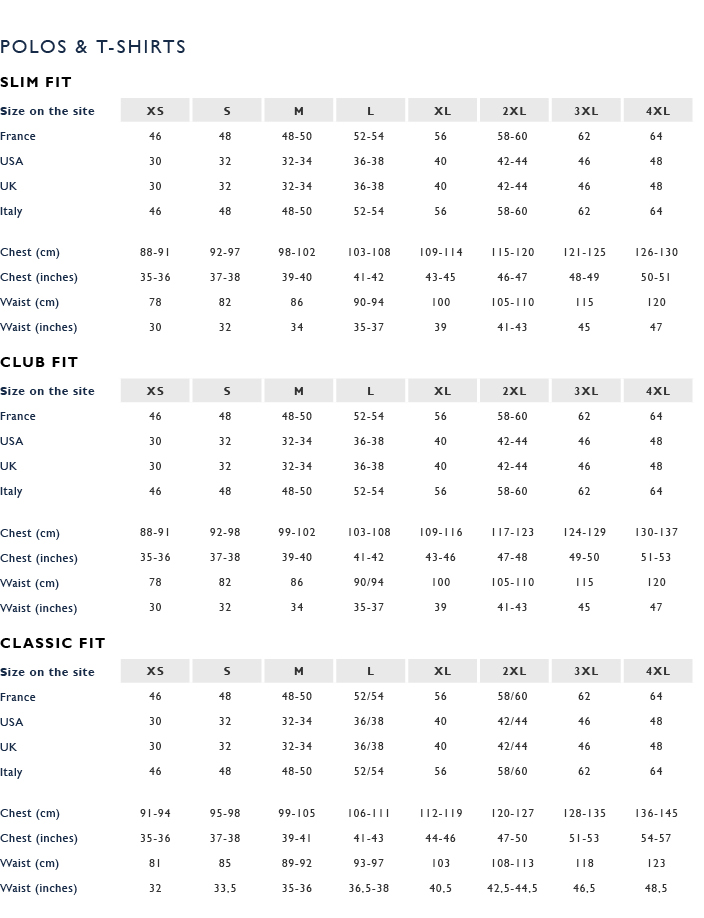 vineyard vines size chart: Faconnable sizing charts buck zinkos
