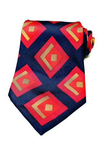 Christian Dior Mens Vintage Geometric 100% Silk Accessory Neck Tie