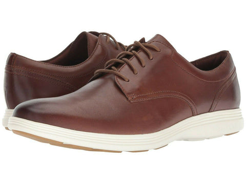 $150 Cole Haan Grand Tour OS Mens Brown Tan Leather Sneaker Footwear Shoes