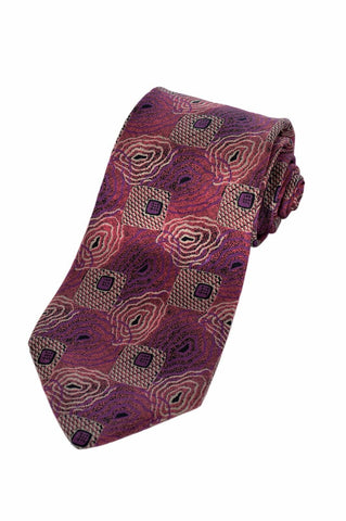 $190 NEW Fendi Mens Pink Floral Spiralgraph Italian Silk Accessory Neck Tie