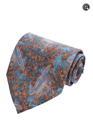Ermenegildo Zegna Mens 100% Italian Silk Floral Fountains Accessory Neck Tie
