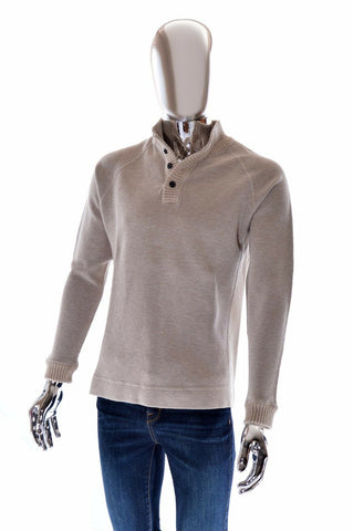 Tommy Bahama Button Front Cowl Collar Long Sleeve Designer Mens Sweater - S