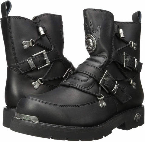$175 NEW NIB Harley Davidson Distortion Mens Black Leather Motor Footwear Boots