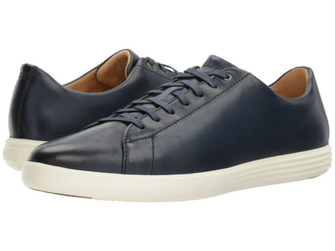 $150 Cole Haan Grand OS Crosscourt II Mens Blue Leather Sneaker Footwear Shoes
