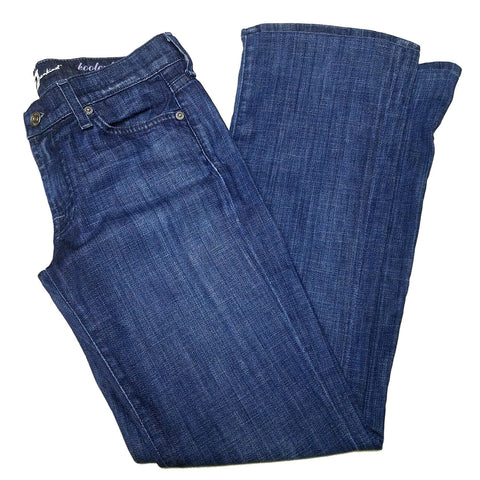 7 For All Mankind Womens Rhinestone Stretch Bootcut Blue Jeans U07ST380S - 27