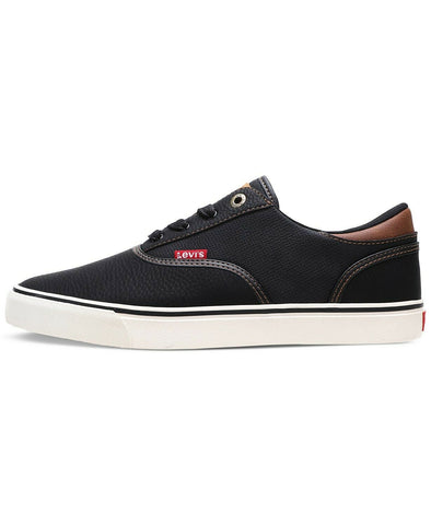 $55 NEW NIB Levi's Levis Ethan Mens Black Perforated Faux Leather Footwear Shoes