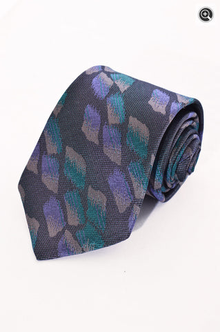 Fendi Mens 100% Italian Silk Multi-Colored Dress Accessory Neck Tie