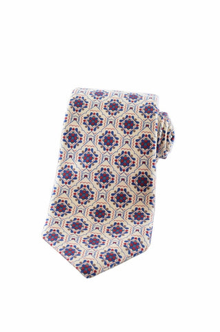 $155 NEW NOS Yves Saint Laurent YSL Mens Multi-Color Silk Accessory Tie