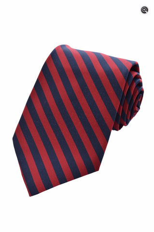 Christian Dior Mens Vintage Red & Blue Diagonal Striped 100% Silk Accessory Tie