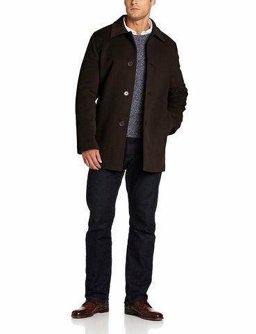 $595 NWT NEW Cole Haan Mens Classic 3-Button Espresso Cashmere Wool Topcoat