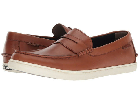 $130 Cole Haan Grand OS Nantucket II Brown Leather Boat Footwear Shoes