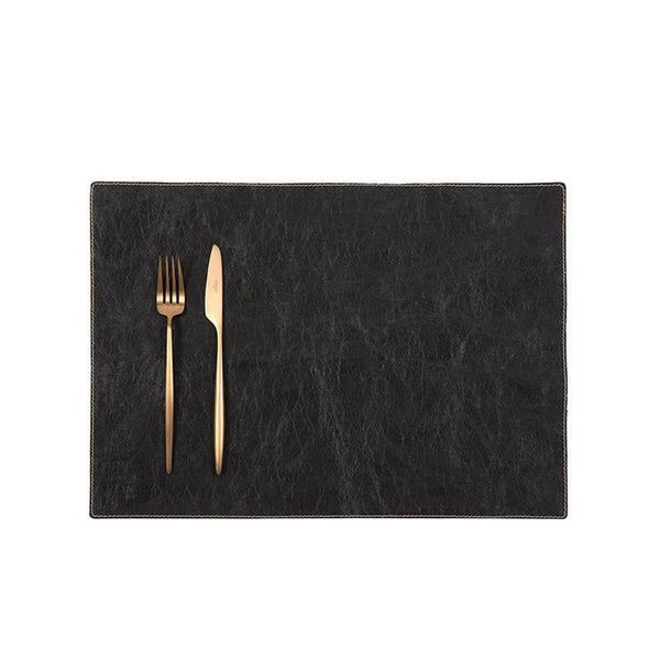 Uashmama Paper Luxe Placemat Black