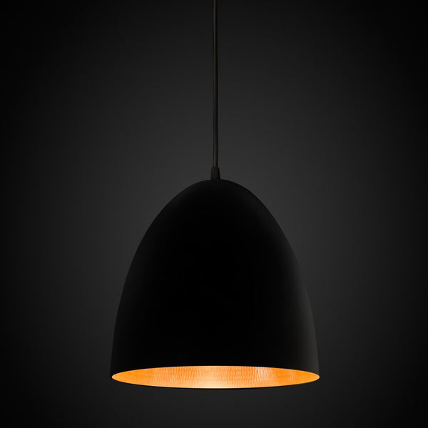 Egg Pendant Light Black / Copper