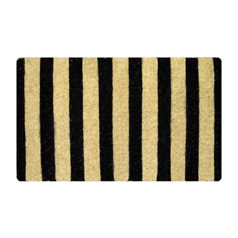 Black Stripe Doormat