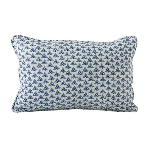 Hampi Linen Cushion Azure by Walter G