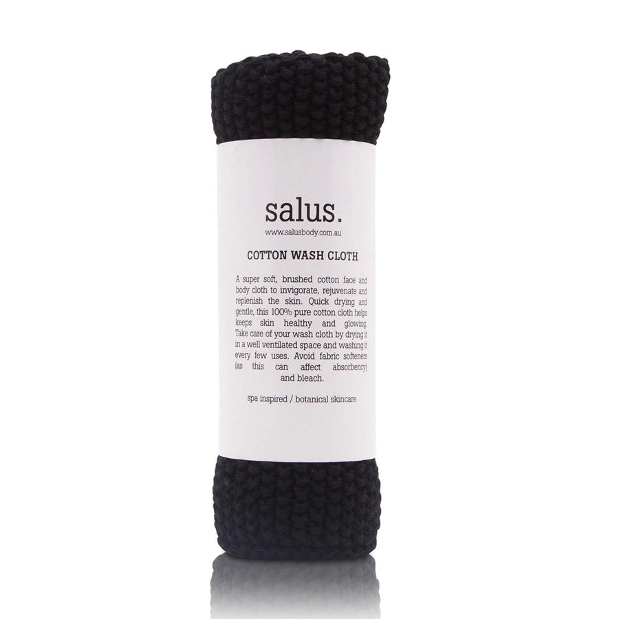 Salus Cotton Wash Cloth Black