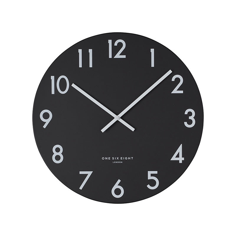 Jackson Silent Wall Clock Black 40cm