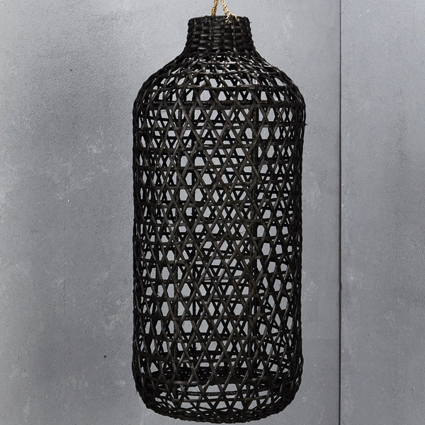 Inartisan Handwoven Tall Bamboo Light Shade Black