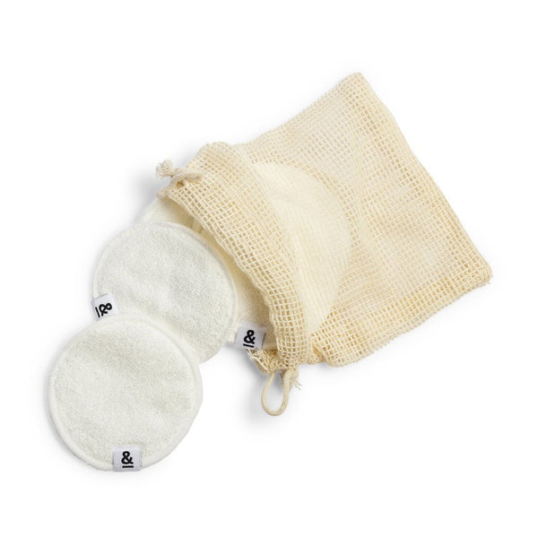 Bamboo Cotton Make-up Remover Pads - Set of 5