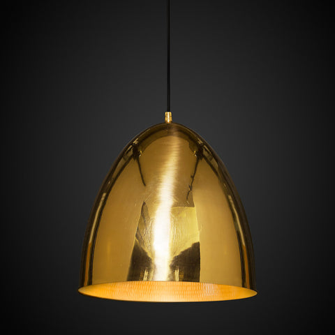 Egg Pendant Light Brass