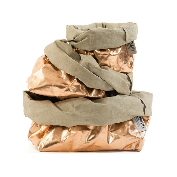 Uashmama Paper Bag Rose Gold