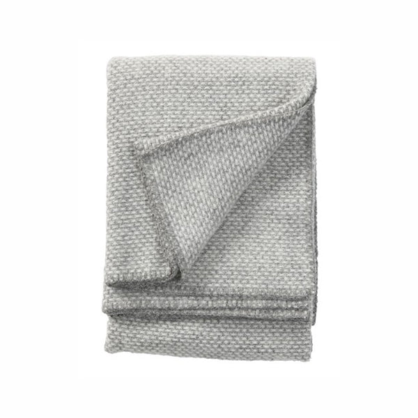 Klippan Lambswool Throw Domino Light Grey