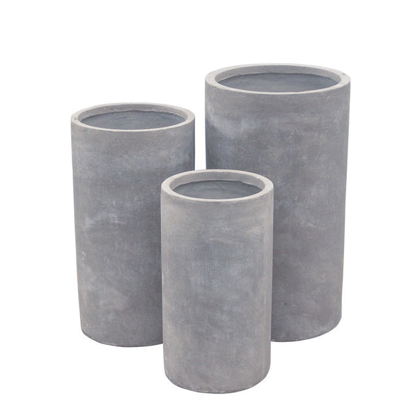 Cylinder Concrete Planter Pot