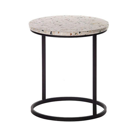 Lucca Iron & Terrazzo Side Table by Amalfi.