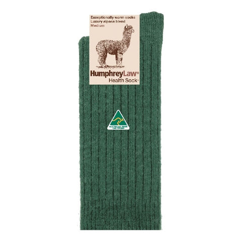 Humphrey Law Alpaca Health Socks Hunter Green