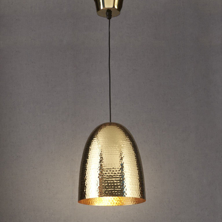 Dolce Beaten Brass Pendant