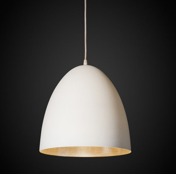 Egg Pendant Light White / Silver