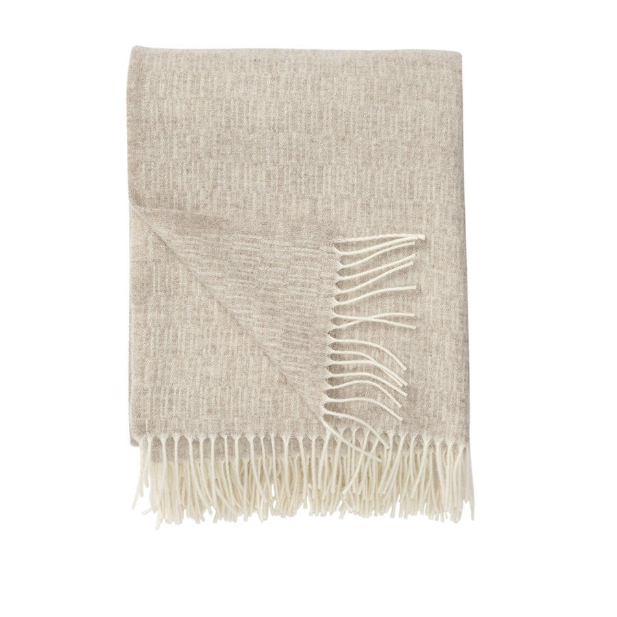 Klippan Lambswool Throw Manhattan Beige