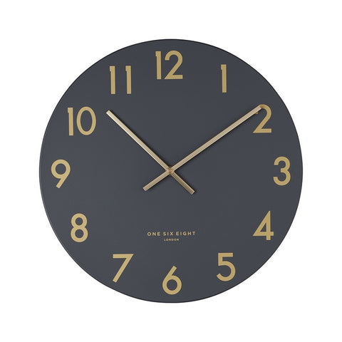 Jones Silent Wall Clock Charcoal 30cm