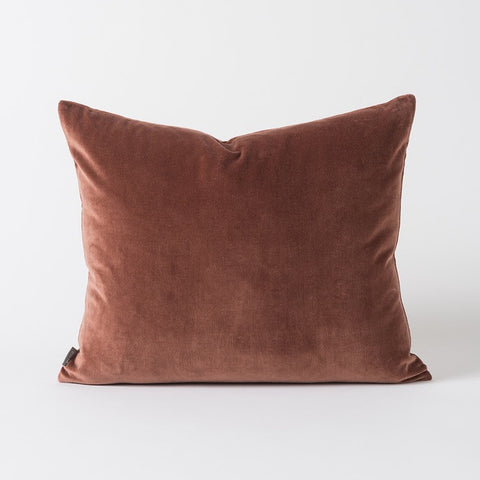 Citta Cotton Velvet Cushion Eggplant 55x45cm