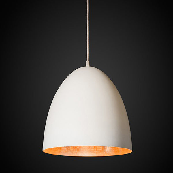 Egg Pendant Light White / Copper