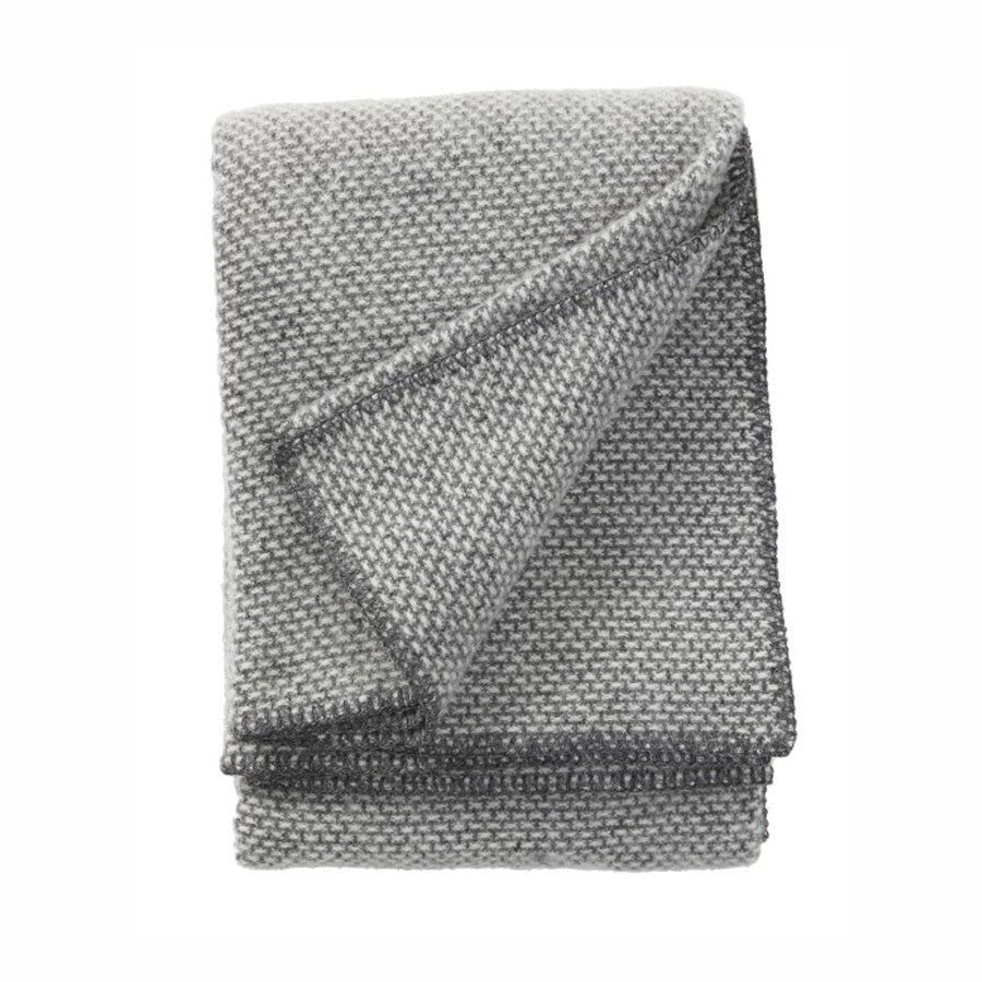 Klippan Lambswool Throw Domino Dark Grey