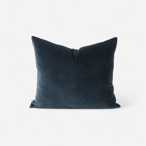Citta Cotton Velvet Cushion Midnight 55x45cm