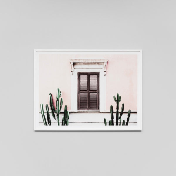 Blush Villa Art Print
