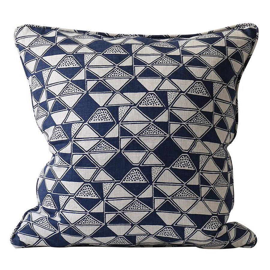 Indigo Block Printed Cushion Melbourne