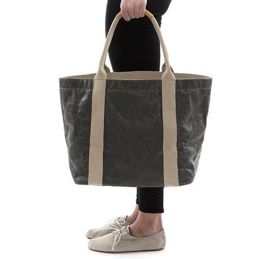 Uashmama Luxe Paper Shopper Dark Grey