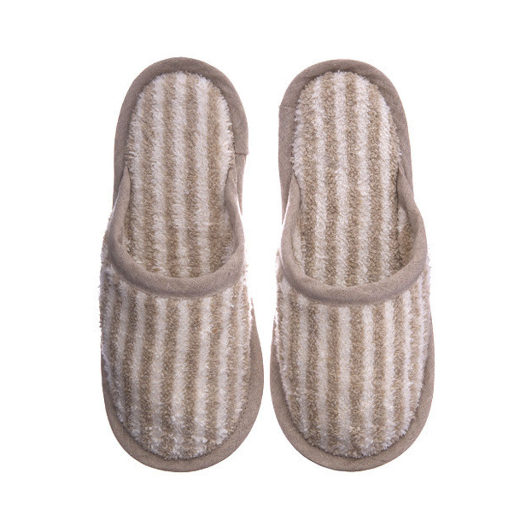 Linen Slippers Stripe