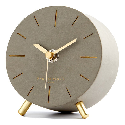 Angelo Concrete Silent Mantel Clock