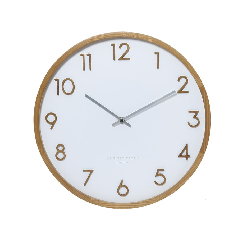 Scarlett Wall Clock 50cm White