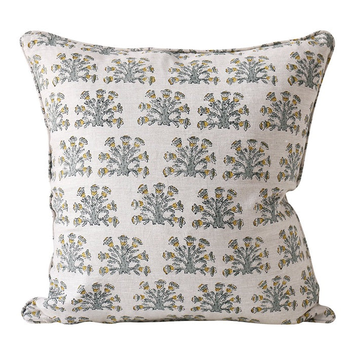 Samode Linen Cushion Celadon by Walter G