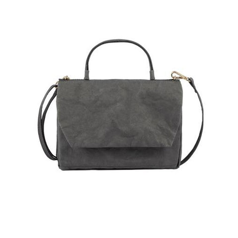 Uashmama Vegan Large Terme Pochette Dark Grey