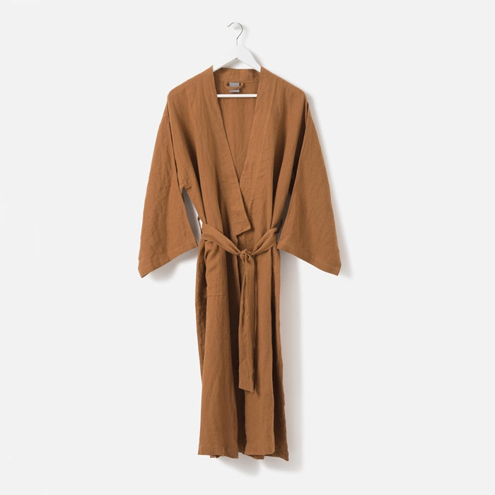Citta Sunday Women's Linen Dressing Gown Toast
